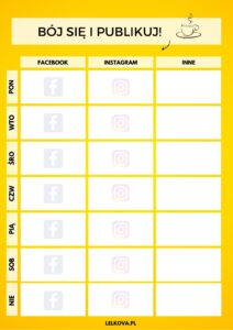 Planer publikacji postów